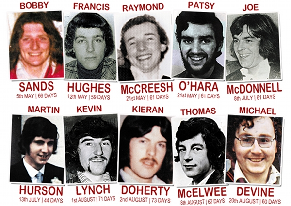 Irish Hunger Strikers - colour photo with names