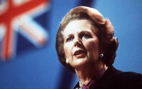 Margaret Thatcher Photo with Union Flag