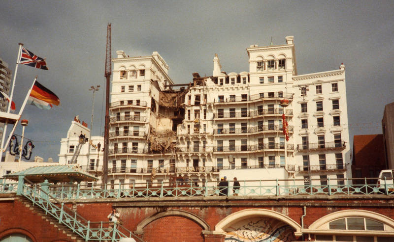 The aftermath of the Brighton Bombing