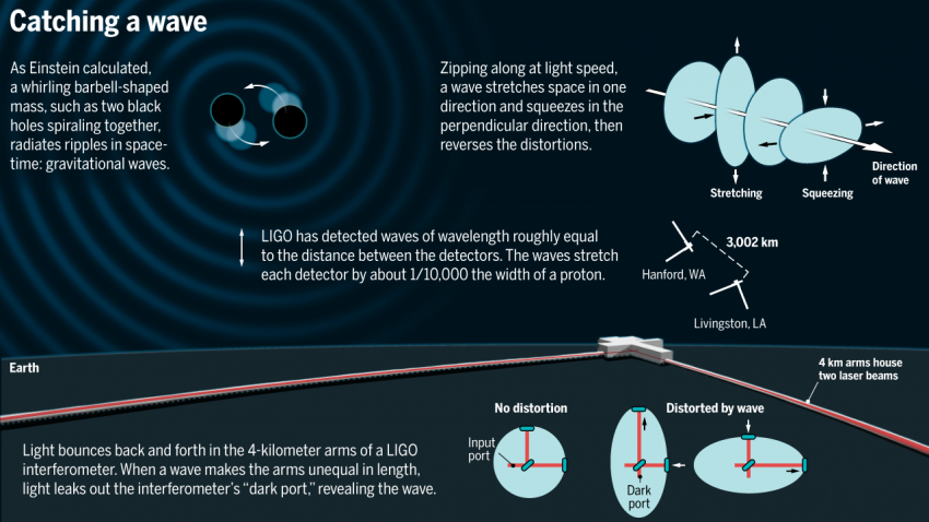 Ligo, how to catch a wave infographic